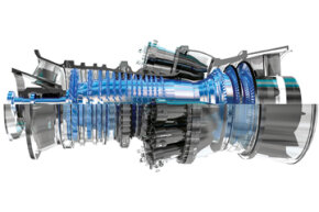You can think of a rotating detonation engine as a type of pulse detonation engine -- with a twist. This is a General Electric Frame 7FA gas turbine.