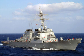 Retrofitting existing Navy ships, like the guided missile destroyer USS Arleigh Burke (DDG 51) shown here, with rotating detonation engine technology could result in millions of dollars in savings each year.