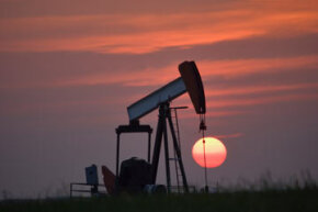 What happens when the sun begins to set on global oil production? See more oil field pictures.