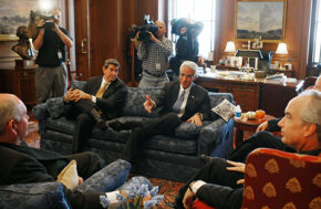 The governors of Georgia, Alabama and Florida met in Washington, D.C. in November 2007 to discuss a water-sharing agreement.