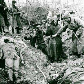 German troops surrender at Stalingrad in January 1943.