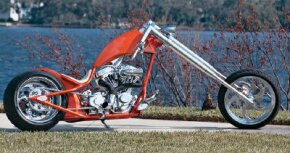 Sabre Tooth is a unique, high-end custom chopper with a 114-cubic-inch engine. See more motorcycle pictures.