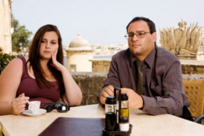 Can this couple save their boring date? Maybe if they inject some humor into the situation.