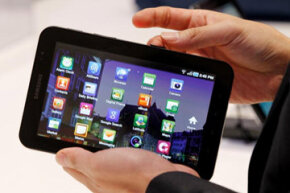It may seem small, but don't worry -- the Samsung Galaxy Tablet comes with lots of bells and whistles.