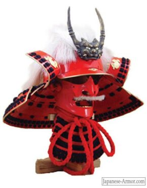 Reproduction of Takeda Shingen's battle helmet and mask