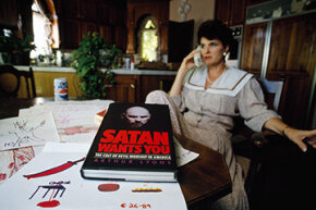 In this 1990 photo we see Atlanta's Faye Yager, who launched an underground network to protect victims of child abuse and devil worship.