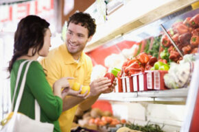 Will you reduce your grocery bills by forgoing burgers and steaks? See more vegetable pictures.