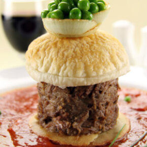 A fancier hamburger might require a fancier tomato sauce.