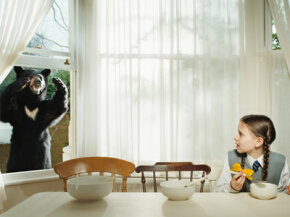 You think a bear in the wild is scary? Try a bear at breakfast. See more emotion pictures.