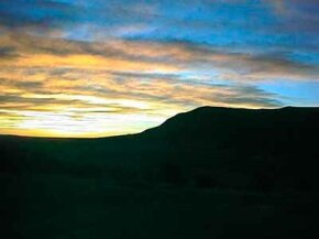 As you cross New Mexico on the Santa Fe Trail, enjoy the many beautiful sights, including sunsets like this one.