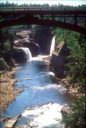©Byways.org Ausable River and Chasm are visible from Lakes to Locks Passage.