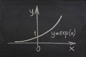 Exponential growth doesn't always mean a big jump up; it really means proportional growth.