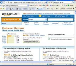 Screenshot of Amazon customer review page