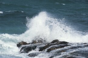 Rocks help give seawater its saltiness.