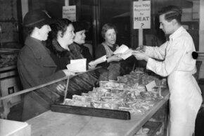 Women using ration books