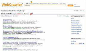 The Webcrawler search engine spider analyzes Web pages and indexes them according to relevance.
