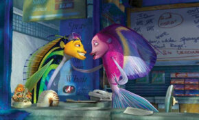 Oscar (Will Smith, left) and Angie (Renee Zellweger).  See more Shark Tale pictures.