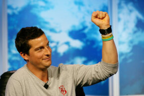"""""""Man vs. Wild"""" host Bear Grylls speaks at the Television Critics Association Press Tour July 13, 2007, in Beverly Hills, Calif."""