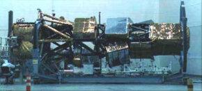 A reconnaissance satellite under construction in an undated photo