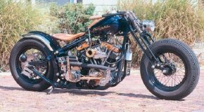 The Shovelglide is a custom chopper with a­n 88-cubic-inch engine. See more motorcycle pictures.