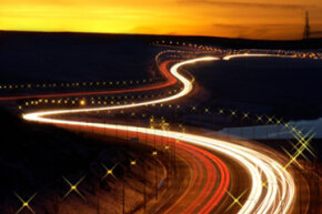 Slow shutter speeds can be used to create special effects by blurring objects and lights.