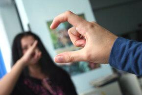 People using sign language