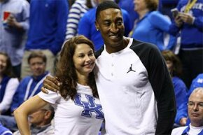 Ashley Judd poses with Scottie Pippen during the 2015 SEC Men's Basketball Championship finals in Nashville. Judd was the subject of some vicious and sexist tweets during March Madness 2015.