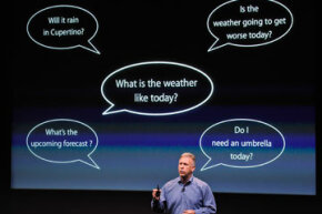 Phil Schiller, Apple's Senior Vice President of Worldwide product, introduced Siri to the world in October 2011.