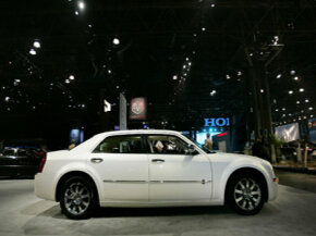 The Chrysler 300 shown here is one of the cars that features Sirius Backseat TV.