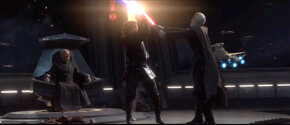 Two Sith Lords battle for a place by the master's side.