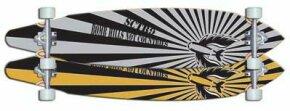 Longboards are often used for street skateboarding.
