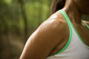 A runner works out her eccrine glands.
