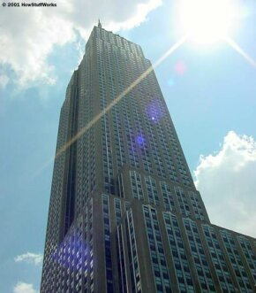 The Empire State Building's 73 elevators can move 600 to 1,400 feet (183 to 427 meters) per minute. At the maximum speed, you can travel from the lobby to the 80th floor in 45 seconds.