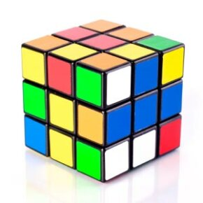 The Rubik's Cube is a 3-D variation of the sliding puzzle.