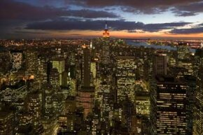 New York City burns with electrical brilliance.