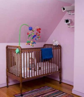 With smart home security, you can check on your little one from anywhere.