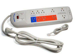 A smart power strip can help keep electronic accessories from wasting power. This one is a Smart Strip from BITS Limited.  See more green science pictures.