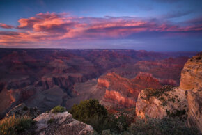 A sunset in the clear sky over the Grand Canyon looks pretty stunning sans smog. See more sunspot pictures.