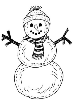 Make an Indoor Snow Person