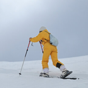 With snowshoes, you can hike the French Alps without sinking into the snow.
