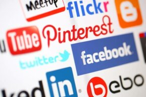 What new features on devices enhance social networking? See more popular web site pictures.