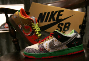 """Nike's limited-edition sneaks incorporate the famous """"swoosh."""""""