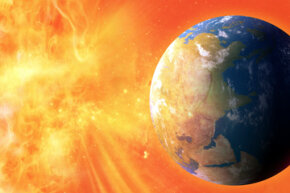 Solar flares, which can impact Earth's environment, are magnetic explosions on the sun's surface.