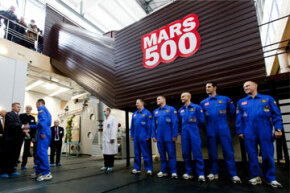 Members of the Mars500 mission in June 2010, shortly before they began the grueling simulation of a flight to the red planet