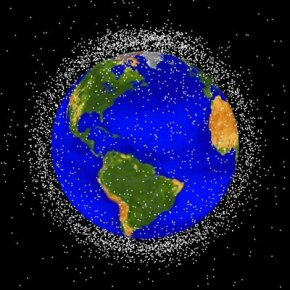 Space junk traveling at high velocities threatens to create even more debris by colliding with other objects.