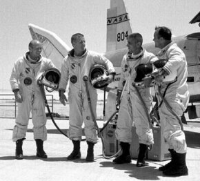 Test pilots of the H-10 series lifting body aircraft