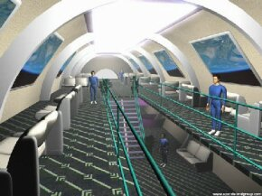 This space hotel could be one of many commercial ventures located within Space Island's space city.