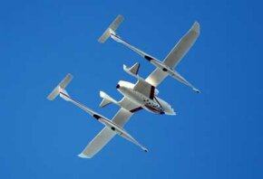 SpaceShipOne, which won the X Prize in 2004, may be the future of commercial space flight. See more rocket pictures.