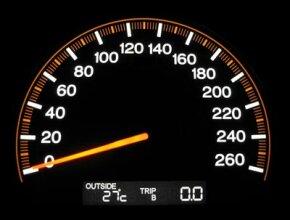 A modern speedometer.