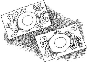 Make a set of Spring Place Mats!
